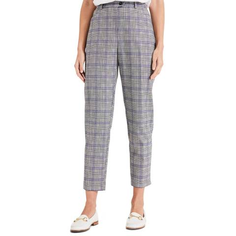 Phase Eight Grey Check Terri Trousers