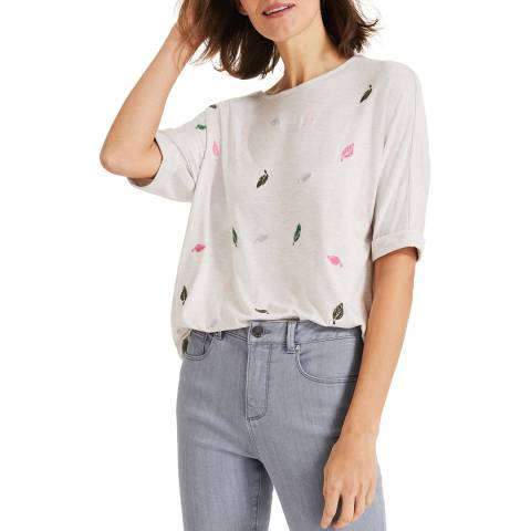 Phase Eight Ivory Leaf Laurella T-Shirt