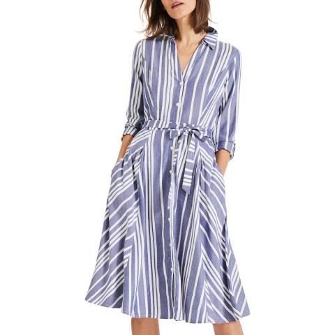 Phase Eight Navy/Ivory Willa Stripe Dress