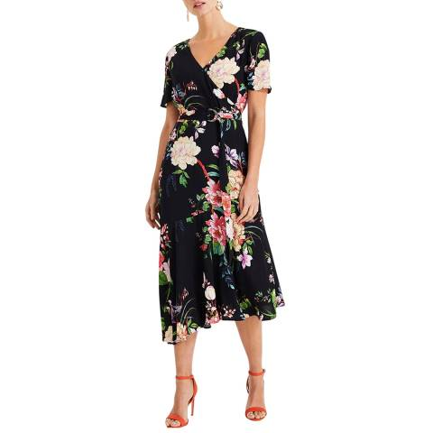 Phase Eight Black Floral Print Evadine Dress