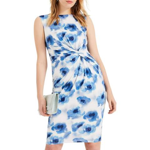 Phase Eight Blue Floral Mary Dress