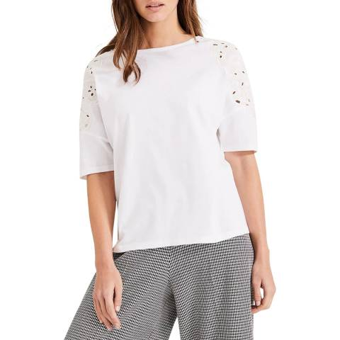 Phase Eight White Kaley Cutwork T-Shirt