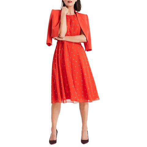 Phase Eight Red Spot Fernanda Dress
