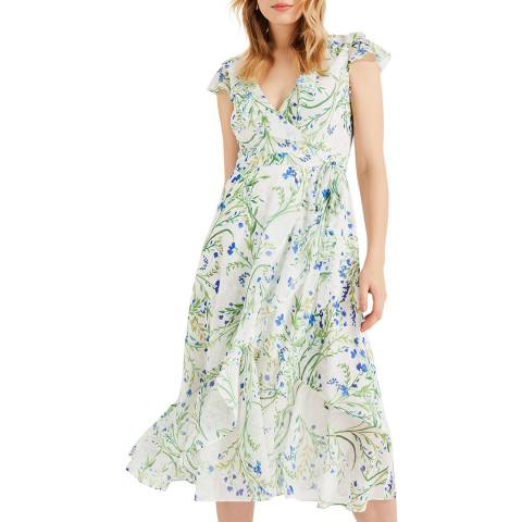 Phase Eight Ivory Floral Flavia Dress