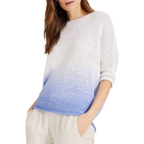 Phase Eight Blue Aideen DipDye Knit Top
