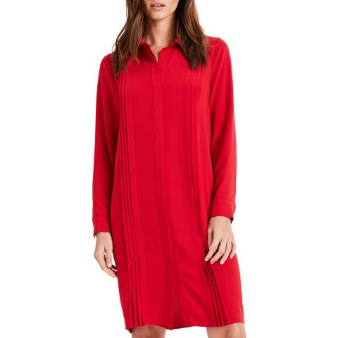 Phase Eight Red Dolunay Shirt Dress