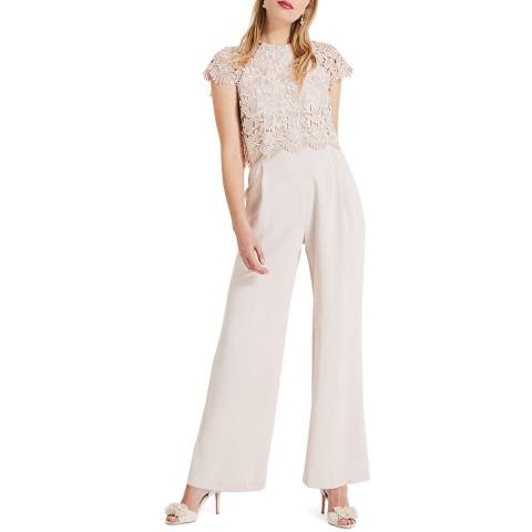 Phase Eight Beige Katy Lace Jumpsuit