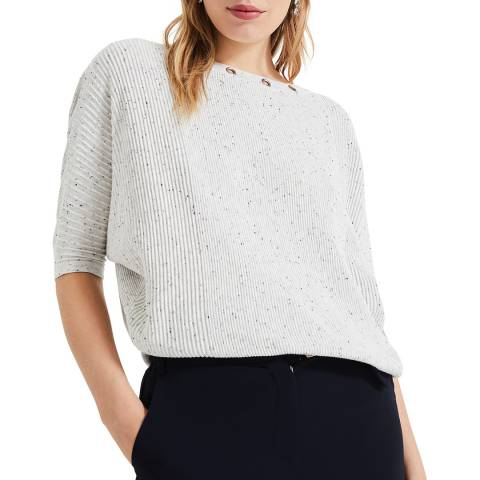 Phase Eight Floriana Fleck Knit Silver