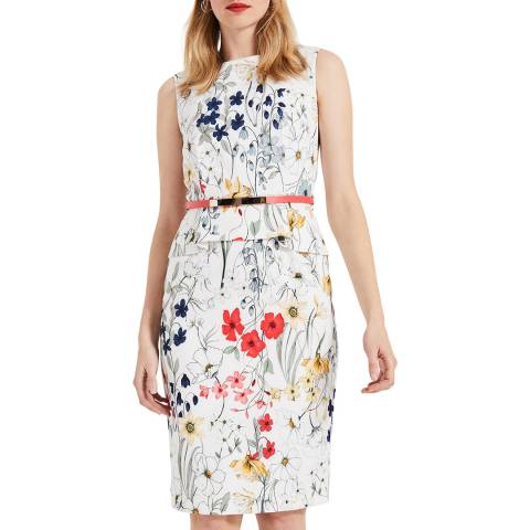 Phase Eight Ivory Floral Print Jaida Dress