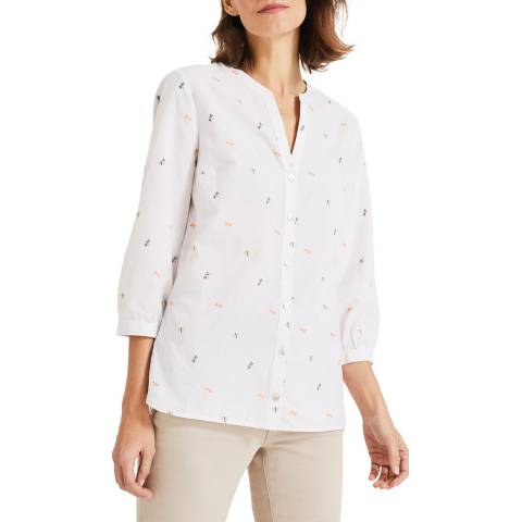 Phase Eight Cream Dragonfly Blouse