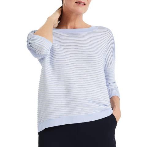 Phase Eight Soft Blue Candie Ripple Jumper