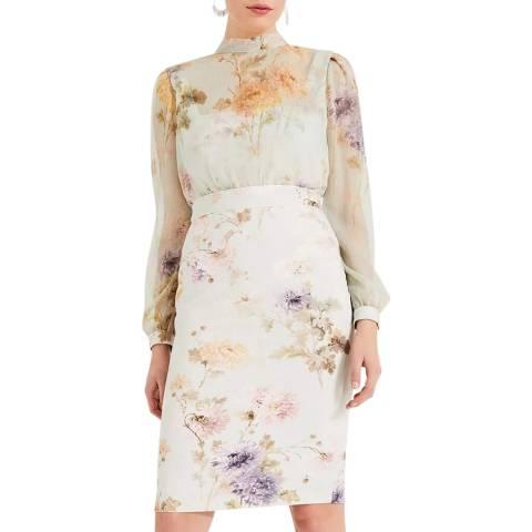 Phase Eight Multi Floral Print Eugienia Dress