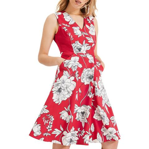 Phase Eight Red Floral Print Eve Dress