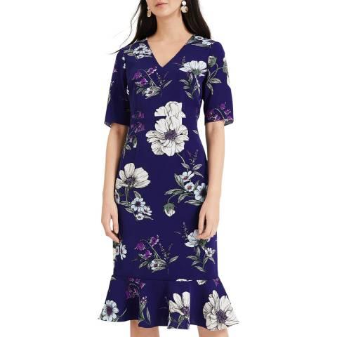 Phase Eight Blue Floral Print Cheryl Dress