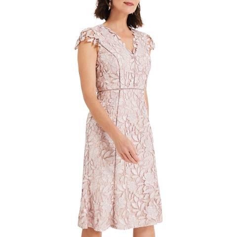 Phase Eight Pink Amaya Lace Dress