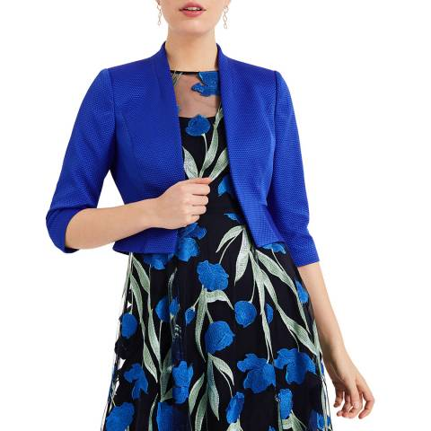 Phase Eight Blue Textured Yani Jacket