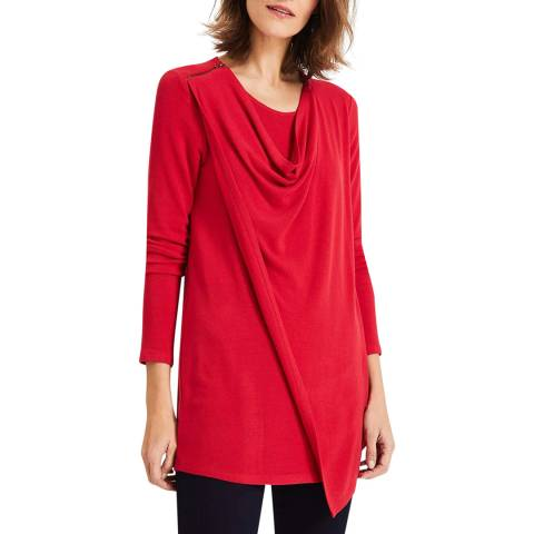 Phase Eight Red Zahra Zip Top
