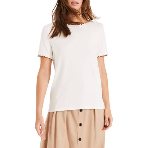 Phase Eight Ivory Susan Scallop Top