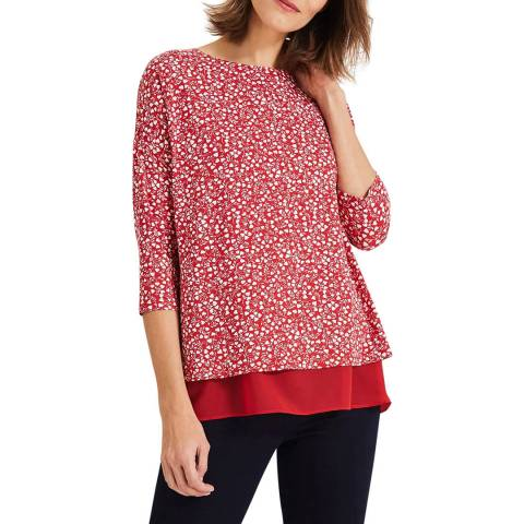 Phase Eight Red/Ivory Hester Top