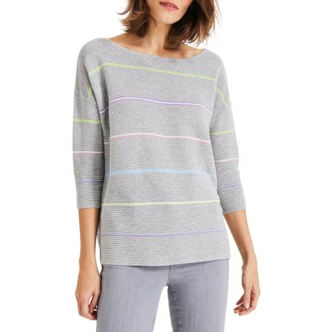Phase Eight Piera Stripe Knit Grey