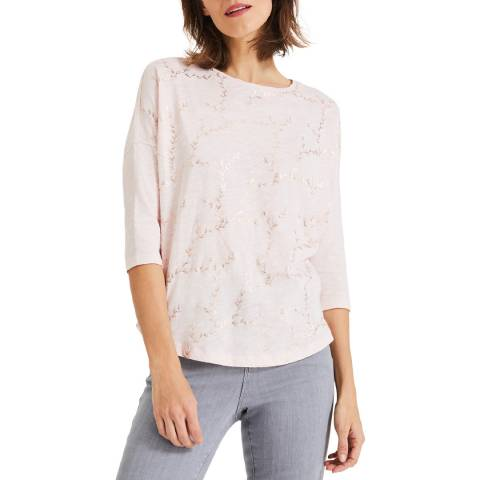 Phase Eight Pink Fliss Foil Top