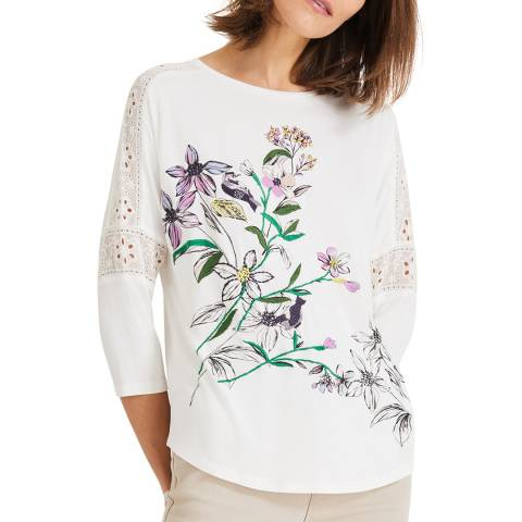 Phase Eight Ivory Peggy Print Top