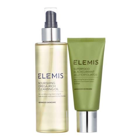 Elemis Nourishing Cleanse & Exfoliate Duo - WORTH £61