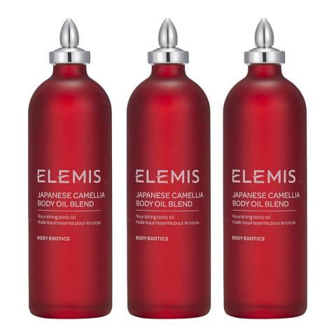 Elemis Japanese Camillia Body Oil Trio - WORTH £120