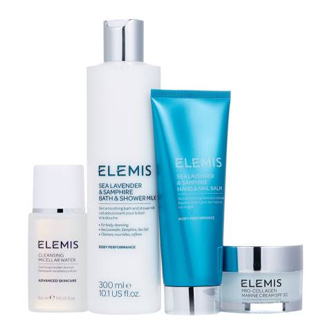 Elemis Pro-Collagen Refresh & Revive Face & Body Set, Sea Lavender WORTH £105