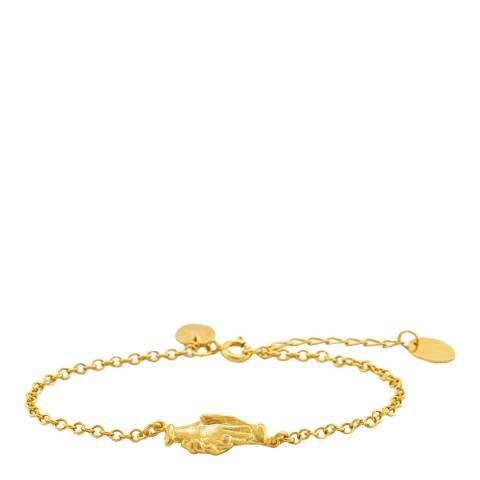 Alex Monroe Gold Plated Hands of Friendship Bracelet
