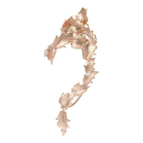 Alex Monroe Rose Gold Plated Ornate Leaf Ear Cuff