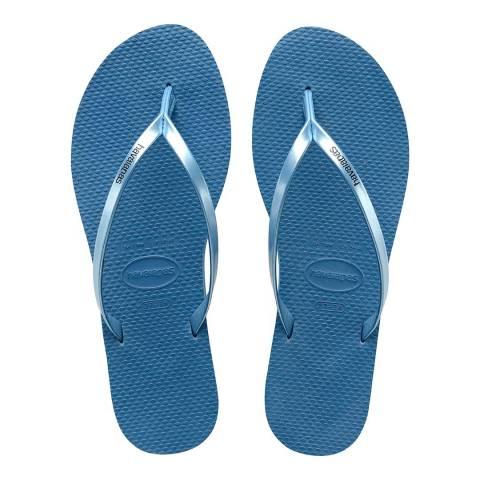 Havaianas Blue You Metallic Flip Flop
