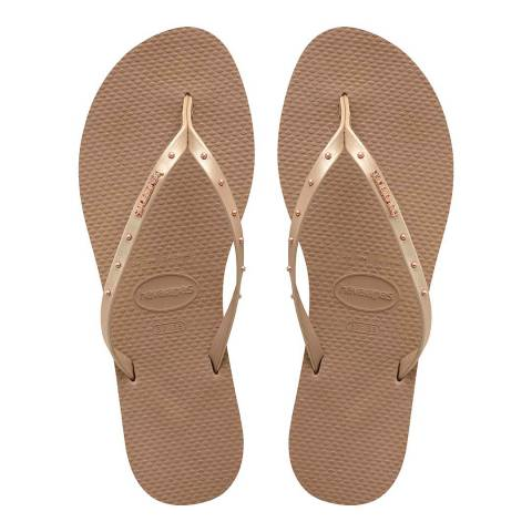 Havaianas Rose Gold You Maxi Flip Flop