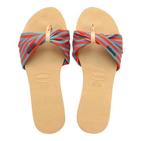 Havaianas Ivory Multi Striped Saint Tropez Sandals