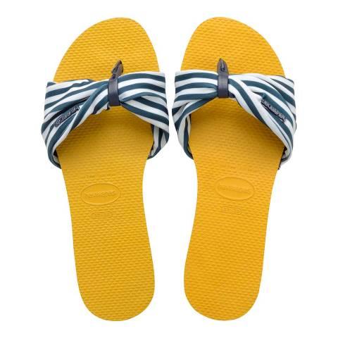 Havaianas Mustard You Saint Tropez Open Sandal