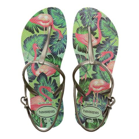 Havaianas APPLE GREEN PRINT SANDALS WOMEN HAV. FREEDOM PRINT