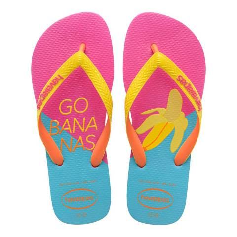 Havaianas Hollywood Rose & Blue Print Top Flip Flop