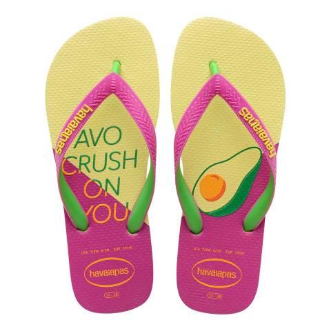 Havaianas POLLEN YELLOW/ROSE GUM PRINT WOMEN HAV. TOP COOL