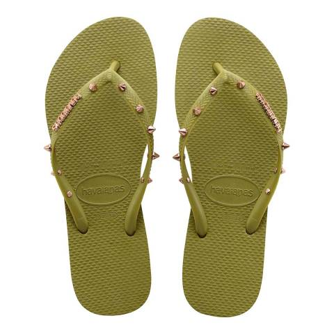 Havaianas Camo Green Slim Stud Hardware Flip Flop