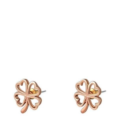 Ma Petite Amie 18K Rose Gold Plated Clover Earrings
