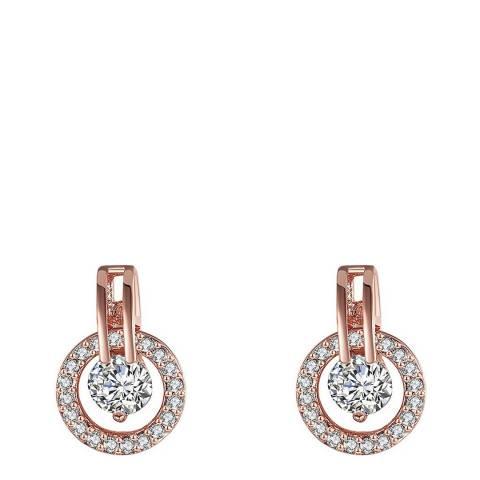 Ma Petite Amie Swarovski Rose Gold Earrings