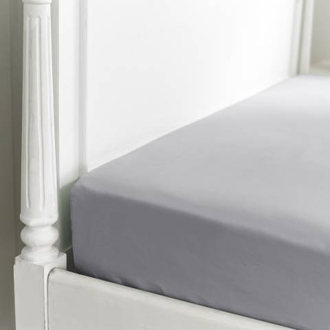 The Lyndon Company 800TC Double Fitted Sheet, Silver