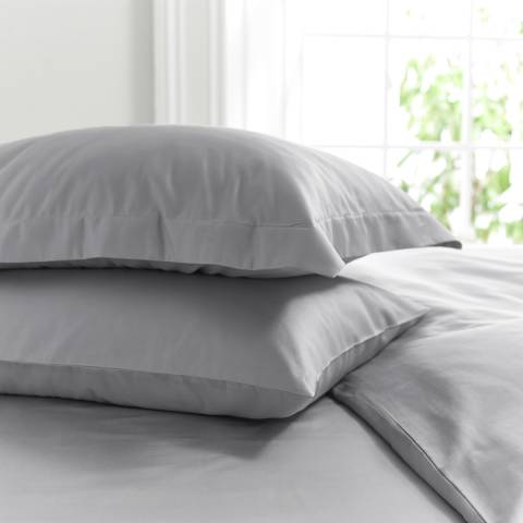 The Lyndon Company 800TC Oxford Pillowcase, Silver