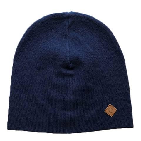 Ebbe Medium Blue Denim Rinse Wash Raw Knitted Beanie