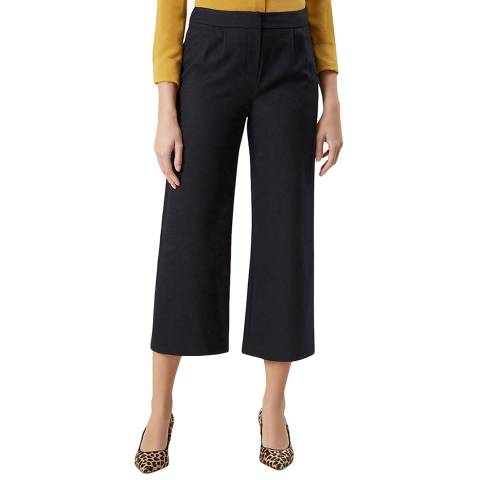 Hobbs London Navy Cropped Lula Trousers