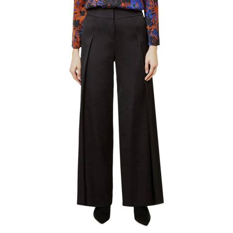 Hobbs London Black Adilah Wide Leg Trousers