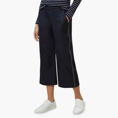 Hobbs London Navy Callie Crop Trousers