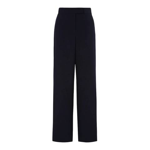Hobbs London Navy/Ivory Stripe Emelyn Trousers