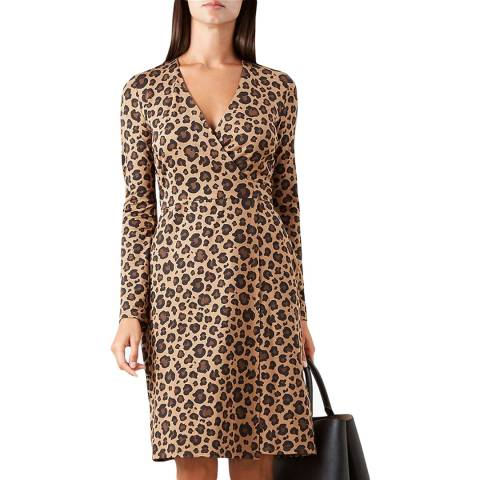 Hobbs London Leopard Print Delilah Wrap Dress