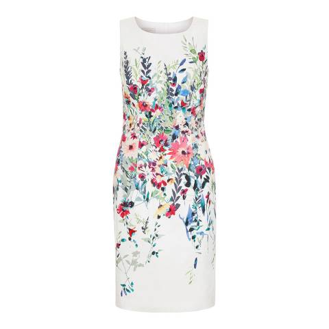 Hobbs London Ivory Floral Fiona Dress